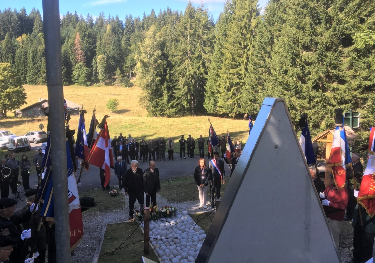 20190928 75ème anniversaire libération Cluses et Haute Savoie cérémonie stèle Loëx (3)
